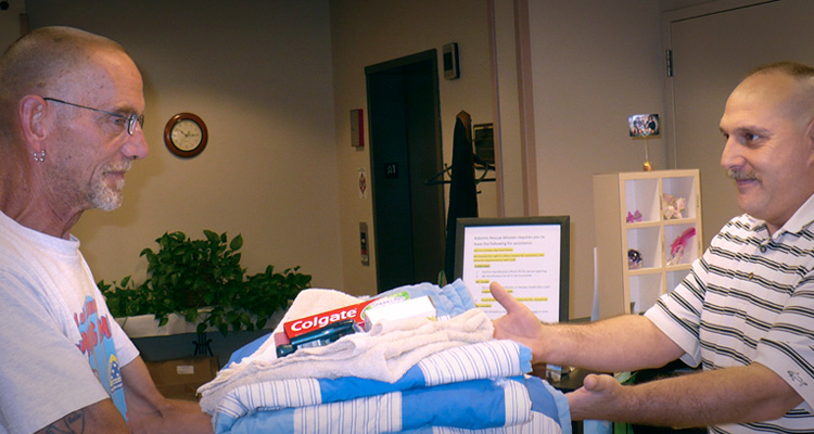 Front Desk - Providing Essentials to Homeless Male
